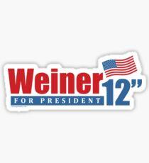 Weiner 2012 Inches Sticker