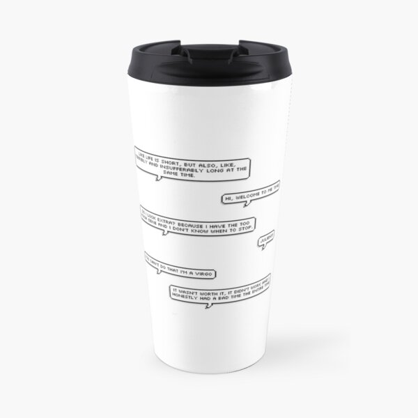 Jenna Marbles quote sheet Travel Mug