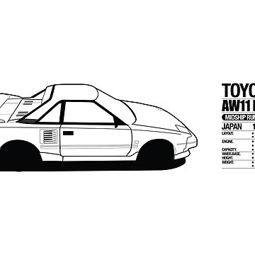Toyota AW11 MR2 - DATA Graphic - PRINT by MK1corse