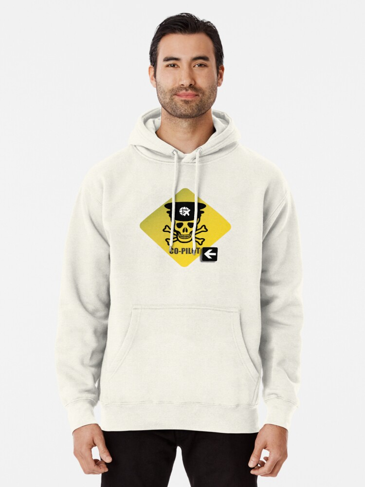 Alternate view of Model 23 - Warning Co-Pilot Pullover Hoodie