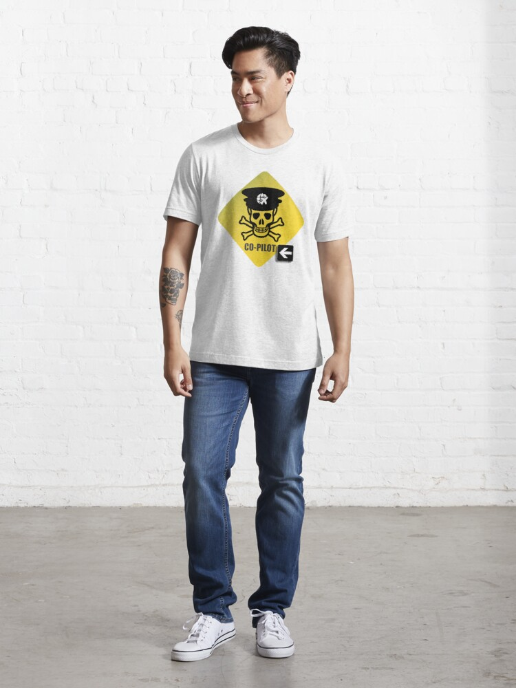 Alternate view of Model 23 - Warning Co-Pilot Essential T-Shirt