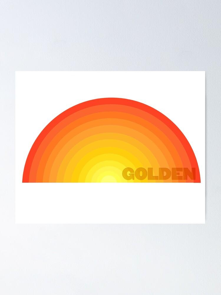 Golden Harry Styles Fine Line Album Art Design Poster By Graykittens Redbubble