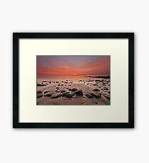 Harlech seascape Framed Print