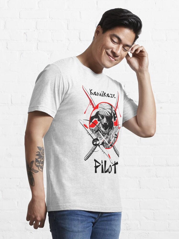 Alternate view of Model 34 - Kamikaze Pilot Essential T-Shirt