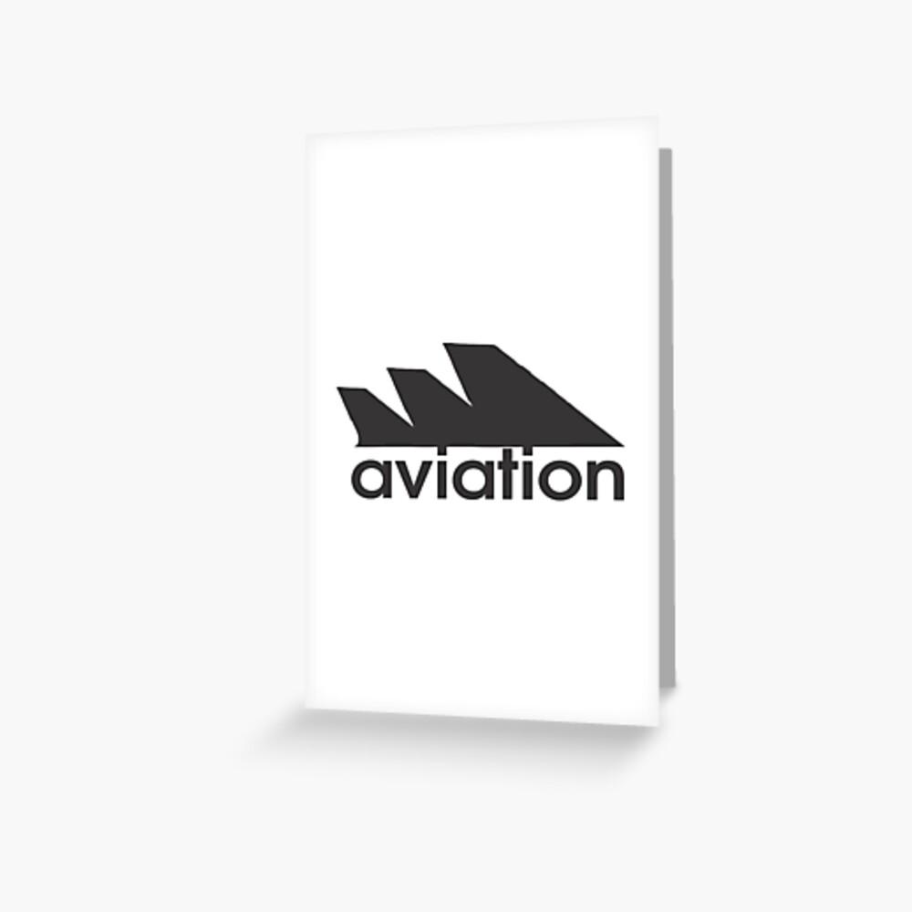 Model 55 - Aviation Greeting Card