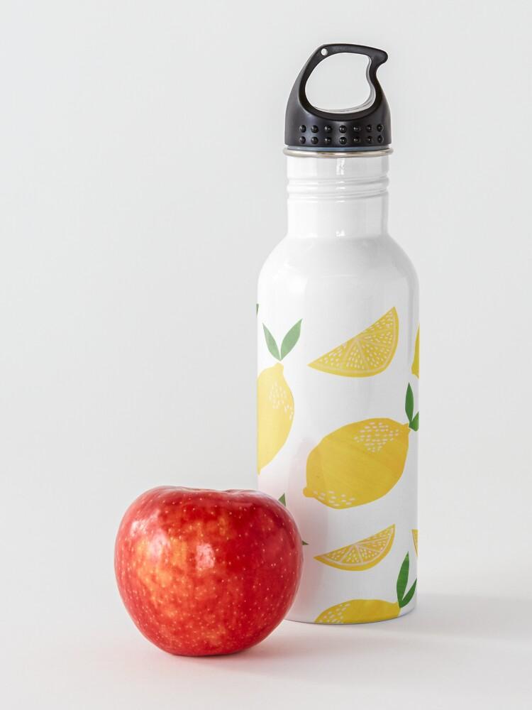 Alternate view of Cut + Paste Lemon Pattern Water Bottle