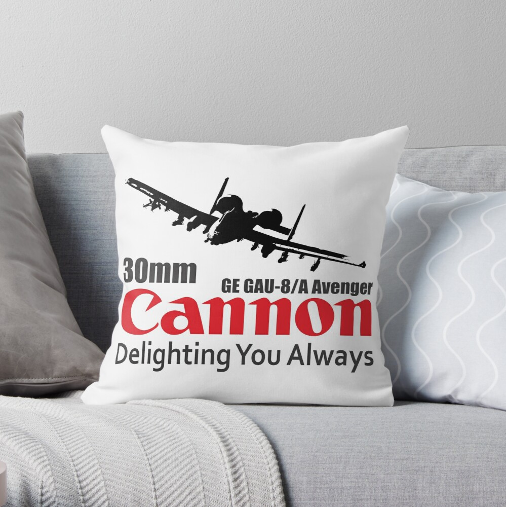 Model 67 - Cannon 30mm Throw Pillow