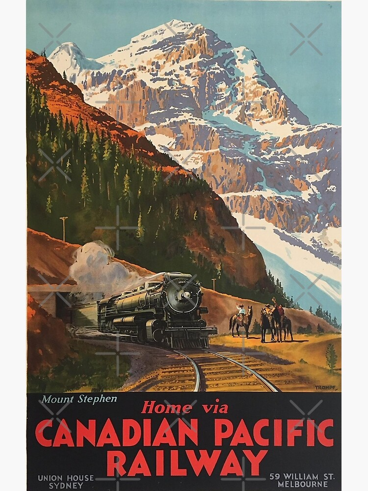 Vintage Travel - Canadian Pacific Railway by Culturio