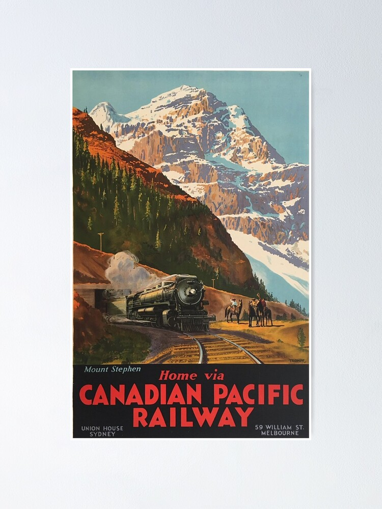 Alternate view of Vintage Travel - Canadian Pacific Railway Poster