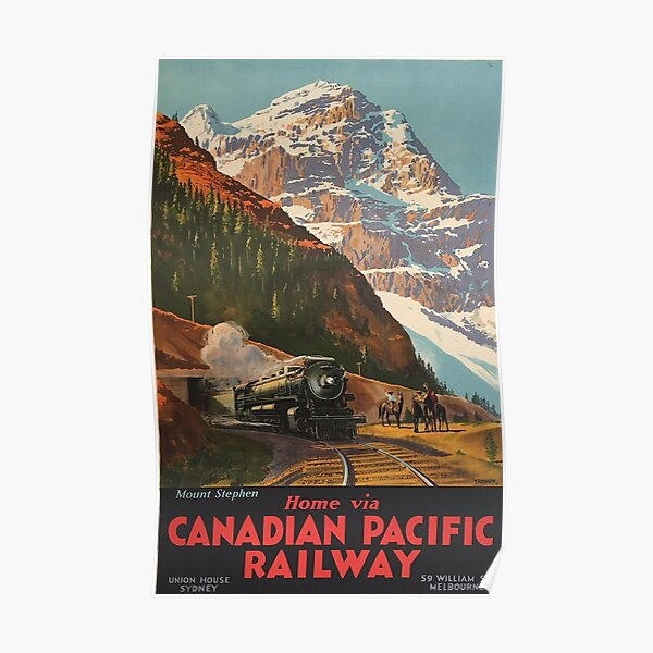 Canadian Pacific Railway - Vintage Travel Poster