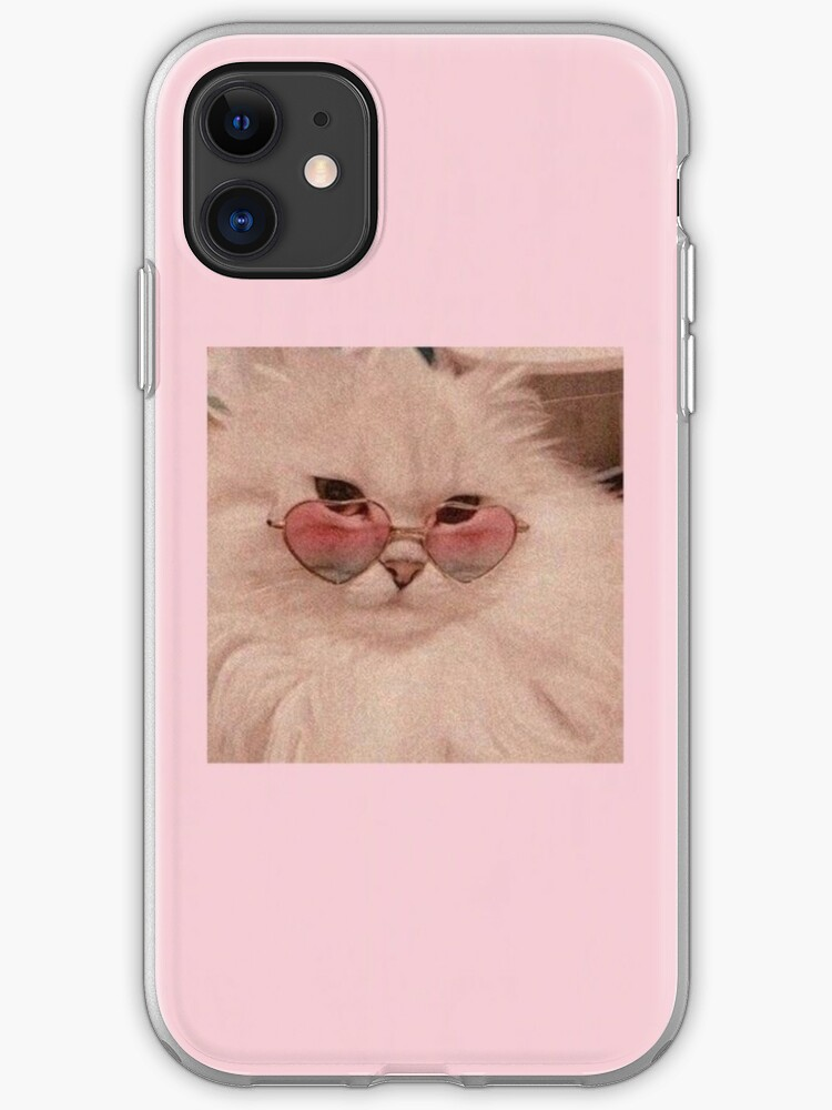 aesthetic sunglasses cat phone case iphone case cover by namiranaveed redbubble redbubble