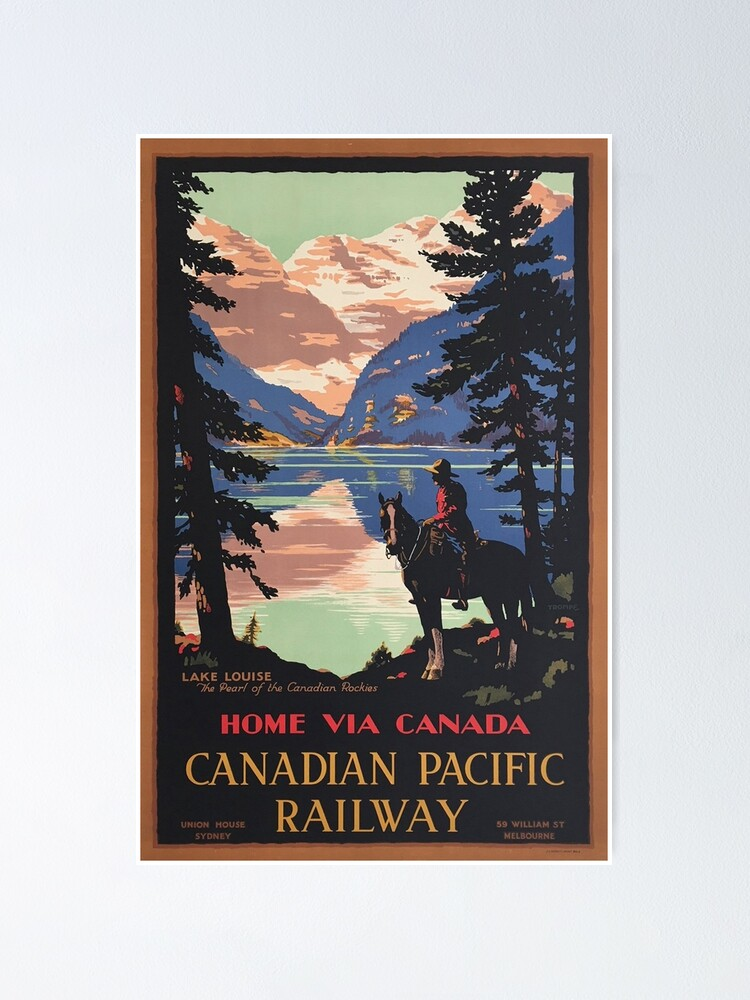 Alternate view of Vintage Travel - Home via Canada Poster