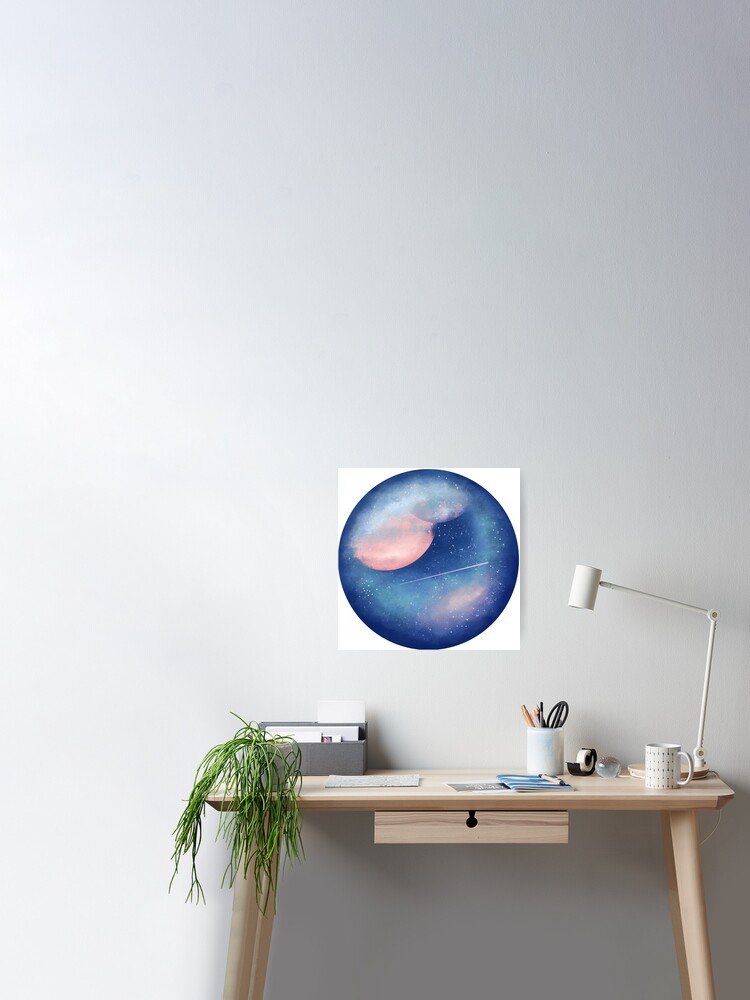 surreal galaxy orb poster by colebriggs72 redbubble