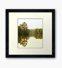 Morning light at the lake Framed Print