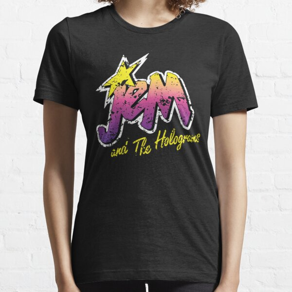 Jem and the Holograms Band Cartoon Misfits Distressed 80s Party Mask Essential T-Shirt