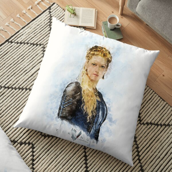 Lagertha watercolor art Floor Pillow