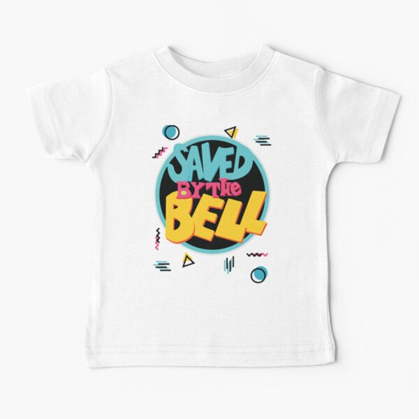 Saved by the Bell TV Sitcom 90s Party Pattern Geometric Memphis Vapourwave Baby T-Shirt