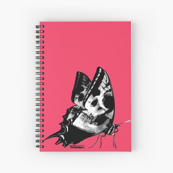 Skullerfly Pink Spiral Notebook