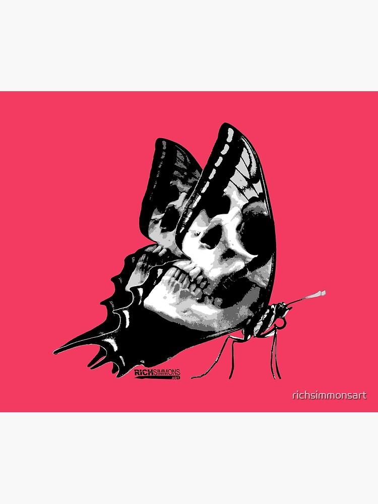 Skullerfly Pink by richsimmonsart