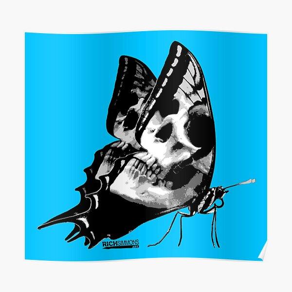 Skullerfly Blue Poster