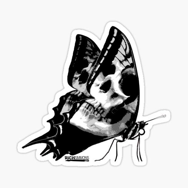 Skullerfly Blue Sticker