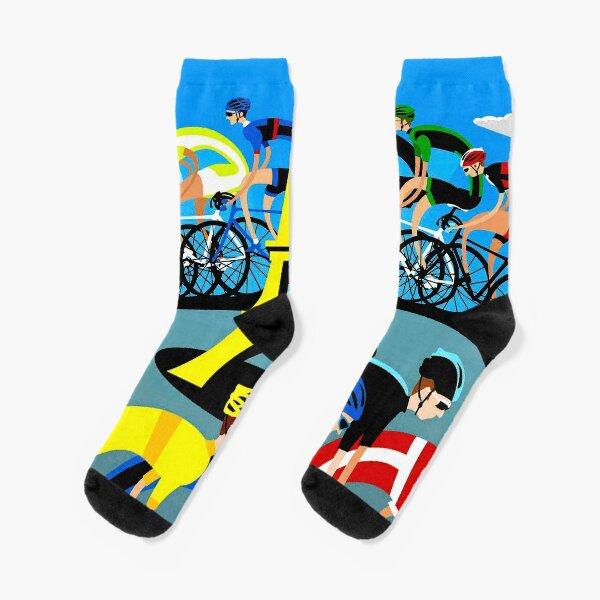 """""""TOUR DE FRANCE"""" Distance Bicycle Race France Print Socks"""
