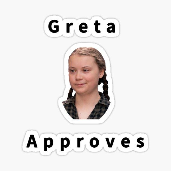 Greta genehmigt Sticker