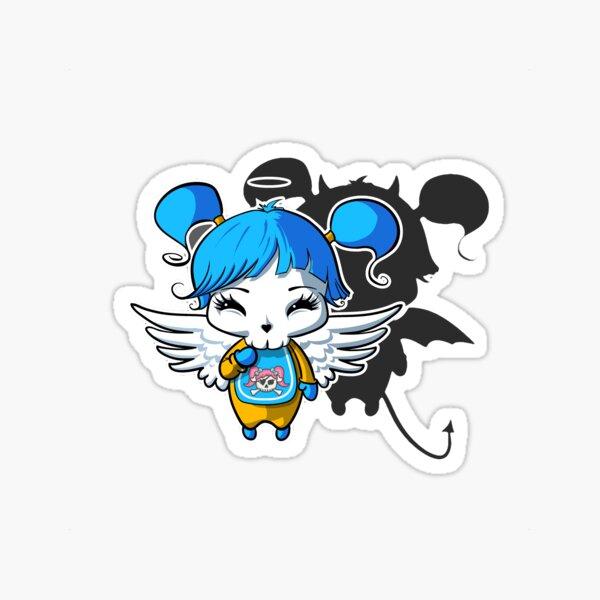 Kawaii Blue Angel Cupcake  Sticker