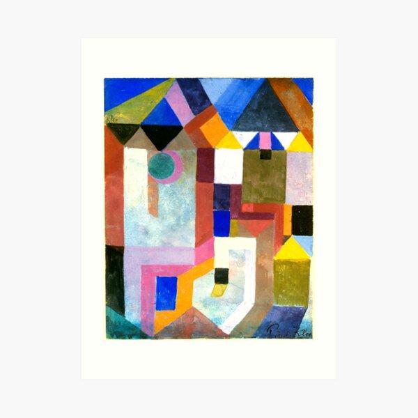 Paul Klee Bunte Architektur | Klee-inspirierte Kunst Kunstdruck