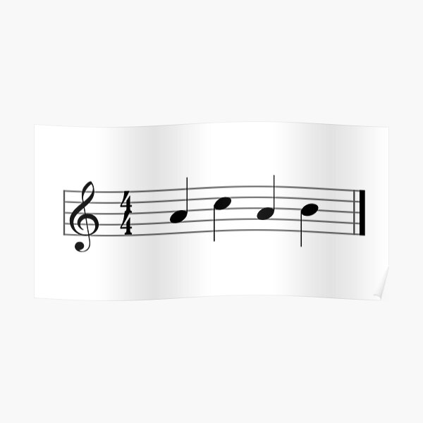 ACAB but it's musical notation Poster