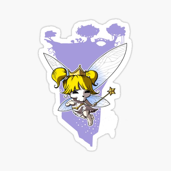 Golden Fairy Cupcake Sticker
