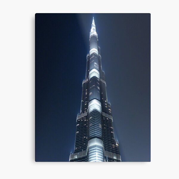 Burj by night Metal Print
