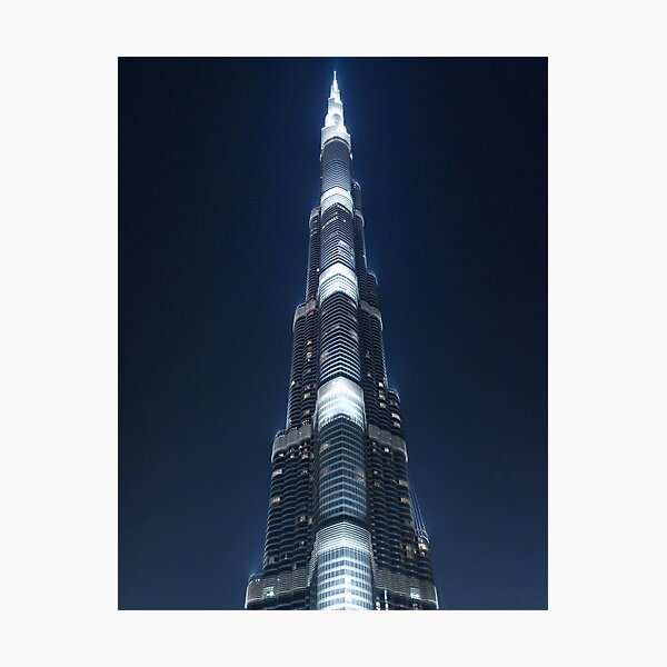 Burj by night Photographic Print