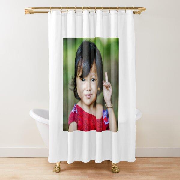 Cambodian Child Shower Curtain