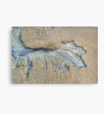 Pattern In The Sand Metal Print