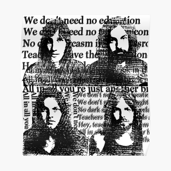 Always Pink Floyd White Poster By Monicamarcov Redbubble