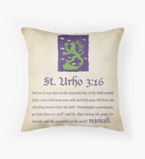 St. Urho 3:13 - Square Throw Pillow