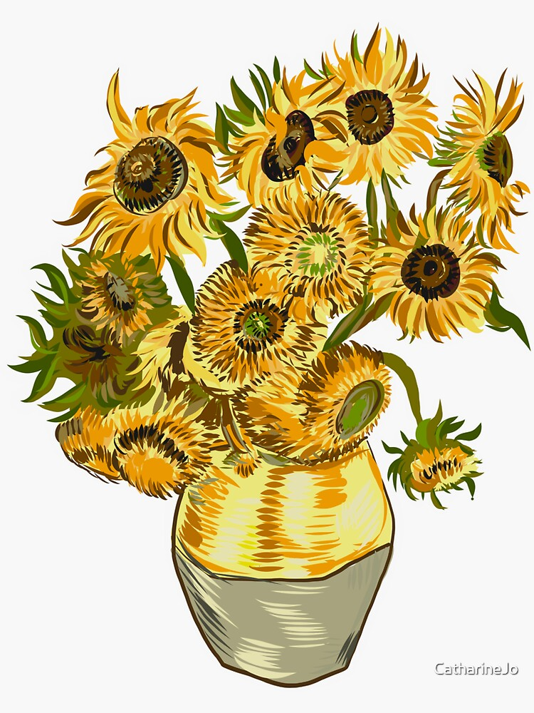 Still Life with Sunflowers by CatharineJo