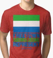 Sierra Leone, represent Tri-blend T-Shirt