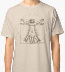 Vitruvian man by Leonardo Da Vinci  Classic T-Shirt