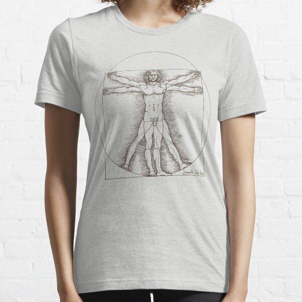 Vitruvian man by Leonardo Da Vinci  Essential T-Shirt
