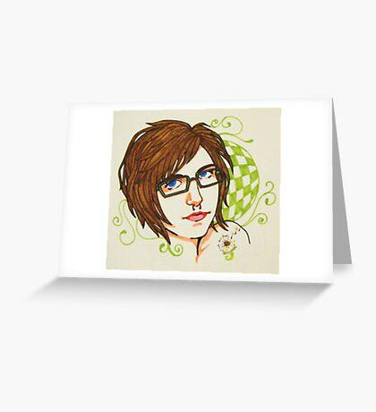 self nouveau Greeting Card