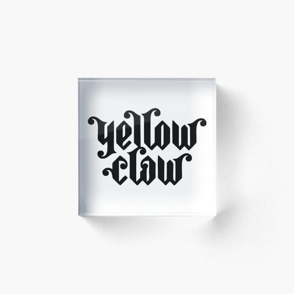 Best Seller - Yellow Claw Logo Merchandise Acrylic Block