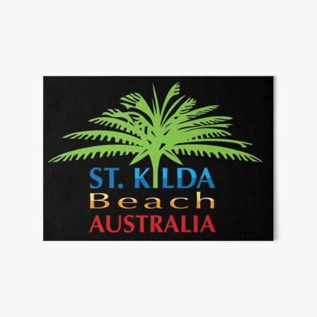 "Vintage Travel Poster Saint Kilda Melbourne Australia Canvas Art Print 10X8/"""