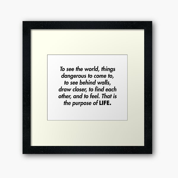 Walter Mitty LIFE Magazine Motto Framed Art Print