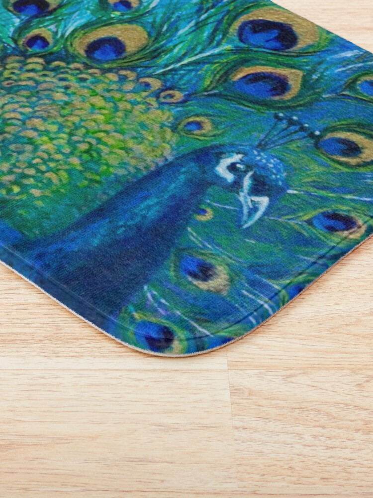 Alternate view of Full Glory Peacock Bath Mat