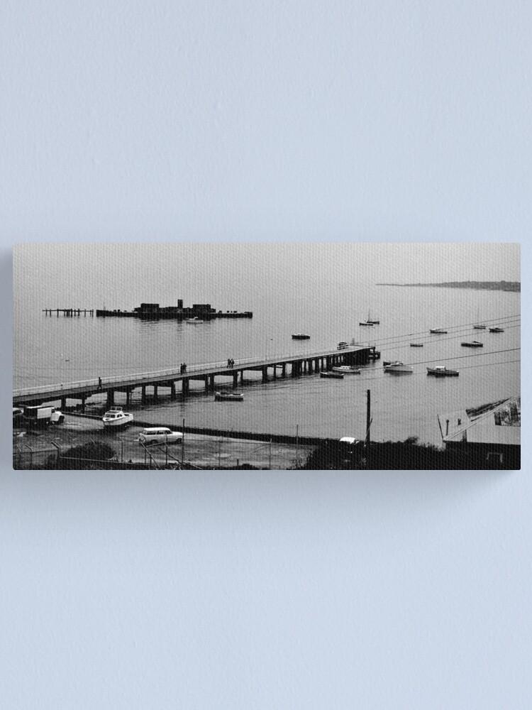 Alternate view of HMVS Cerberus - Half Moon Bay, Black Rock Canvas Print