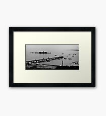 HMVS Cerberus - Half Moon Bay, Black Rock Framed Print
