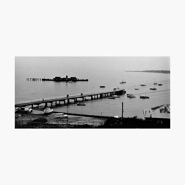 HMVS Cerberus - Half Moon Bay, Black Rock Photographic Print