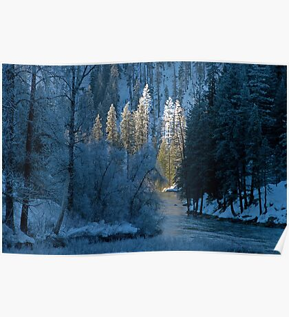 Creekside Winter. Poster